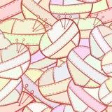 补缀品心脏传染媒介无缝的样式 免版税图库摄影