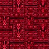 补缀品红色无缝的蛇皮样式纹理 皇族释放例证