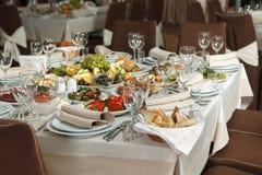 表为事件党或结婚宴会庆祝设置了 图库摄影