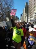 表决,对表决, NY 3月我们的生活, NYC,美国的记数器 库存照片