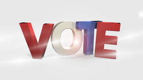 表决3D Render投票的设计 免版税图库摄影