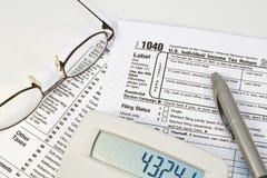 表单税务 免版税库存图片
