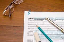 1040份表单税务 图库摄影