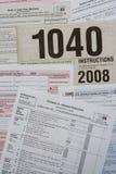 表单税务 免版税图库摄影