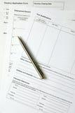表单 免版税图库摄影