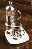 表咖啡过滤器 库存图片