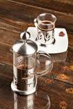 表咖啡过滤器 图库摄影