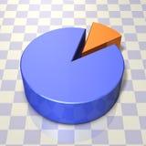 代表圆形统计图表的抽象3DCG例证 向量例证
