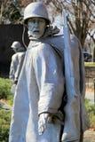 代表在战争中战斗军事,韩战退伍军人的纪念品,华盛顿特区的横断面的雕象, 2015年 免版税图库摄影