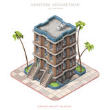 代表多层的大厦的等量象 库存图片