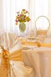 表婚礼黄色 免版税库存图片