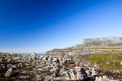 表山高原的惊人的全景在开普敦 库存照片