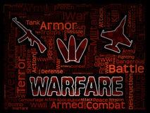 表明军事行动和敌意的战争词 库存例证