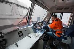 仪表板` s客舱现代高速电力机车EP-2 库存图片