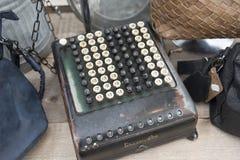 表格机器阿尔伯特Cuypstrat市场 免版税库存图片