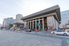 表演艺术的汉城世宗文化会馆 表演艺术的世宗文化会馆是最大的艺术和文化复合体在汉城 图库摄影