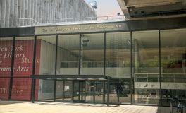 表演艺术的NY公立图书馆 免版税库存照片