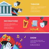表现或剧院例证 水平的横幅 皇族释放例证