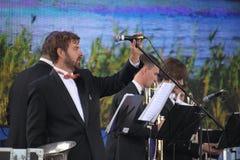 表现艺术家,乐队,管乐器kronwerk黄铜合奏  库存照片