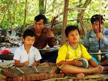 表现,暹粒市柬埔寨 库存图片