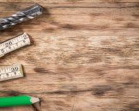 表用工具加工木 免版税库存照片