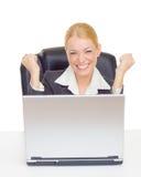 表示的女实业家成功 免版税库存照片