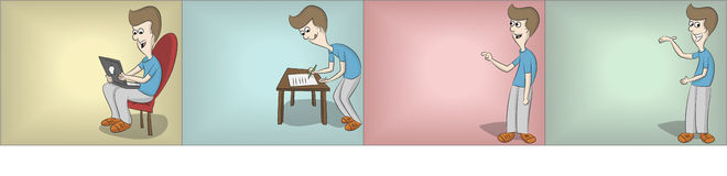 表示进程的四个步骤 库存图片