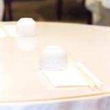 表设置在中国餐馆 免版税库存照片