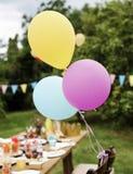 表设置食物庆祝党概念 库存图片