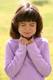 表达式女孩年轻人 图库摄影