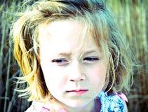 表达式女孩相当被设色 库存图片