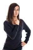 表达式女孩青春期前 库存照片