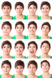 表达式妇女 免版税库存照片