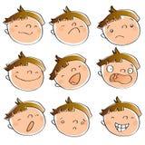 表达式孩子 免版税库存照片