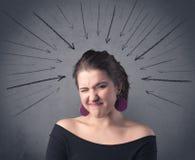 表达式面部滑稽的女孩 免版税库存图片
