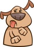 表达的狗yuck动画片例证 图库摄影