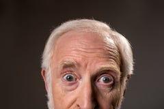 表达震惊老的人迷惑 图库摄影