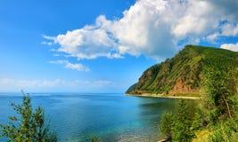 水表面上的小波纹 贝加尔湖湖 库存照片
