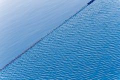 水表面上的波纹  库存照片