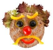表面做不快乐的蔬菜 免版税库存图片