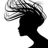 表面剪影妇女 向量例证