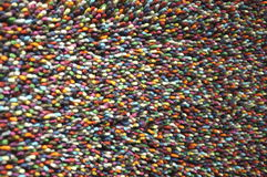 表面地毯许多颜色 库存图片