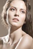 表面女孩构成自然性感 库存照片
