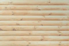 表面完成与现代自然圆的轻的木材作为背景 免版税库存图片