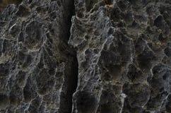 表面岩石石灰石、灰色石灰石和背景在泰国 库存照片