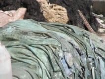 表面干燥细节在制革工人区在马拉喀什,摩洛哥 免版税库存照片