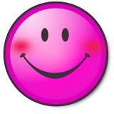 表面愉快的桃红色面带笑容 库存照片
