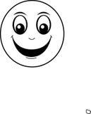 表面愉快的面带笑容 免版税库存照片