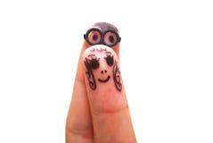 表面手指 免版税库存图片