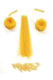 表面滑稽的意大利面食 免版税库存图片